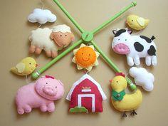 Too cute!!    Baby crib mobile safari mobile animal mobile  by atelierbloom, $85.00