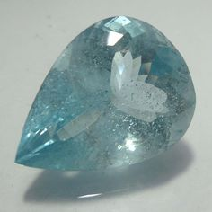 28.3 Cts Natural Faceted Wonderful Aquamarine 24x18.4 MM Pear Cut Stone Gemstone #AquamarineTraders