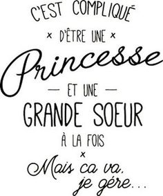 personnaliser tee shirt princesse et grande soeur noir - Best Pins Live New Quotes, Love Quotes, Funny Quotes, Baby Quotes, Quotes Inspirational, Quote Citation, Family Humor, Funny Family, Super Quotes