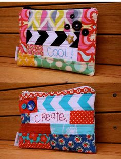Zipper patchwork pouches (no tutorial)