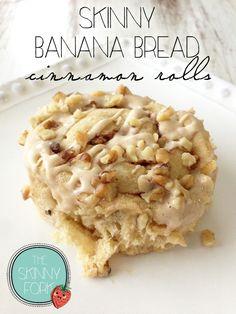 Skinny Banana Bread Cinnamon Rolls — The Skinny Fork