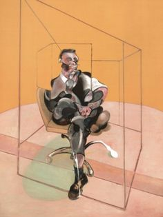 """""""Study for Portrait"""" by Francis Bacon. Entirely untrained, Bacon barely ever worked from life; his chaotic studio, now relocated to Dublin, contained mountains of source material. His contribution to C20th figurative painting is unrivaled & his wit, charm & eccentricity now infamous."""