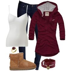 A fashion look from October 2012 featuring Hollister Co. tops, Wet Seal and Free People jeans. Browse and shop related looks.