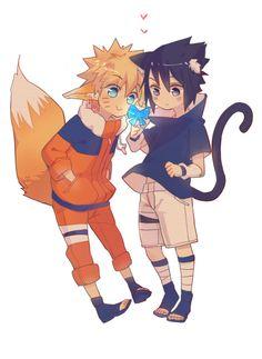 Uzumaki Naruto and Uchiha Sasuke