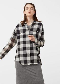 Хлопковая рубашка - Рубашки - Женская | MANGO МАНГО Россия (Российская Федерация)