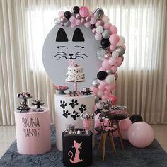 puppys first birthday Third Birthday Girl, Cat Birthday, Kitten Party, Cat Party, 21st Birthday Decorations, 4th Birthday Parties, Childrens Party, First Birthdays, Baby