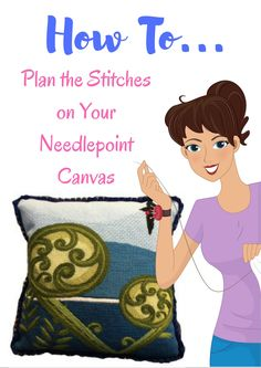 A free pdf for how to select decorative stitches on your needlepoint canvas, plus access to a free How To Needlepoint book.