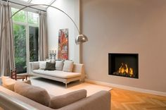 Flat Gas Fireplace - That is before central air, base-line heaters and the furnace. So, having a fireplace was essential. Gas Log Burner, Wood Burner, Fireplace Furniture, Fireplace Wall, Wall Fires, Decoration, Architecture, New Homes, Lounge