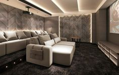 Luxury Cinema Room with cinema seating that is like no other. These cinema seats are recliner seats with electric or manual head rests and feet rests. Pure luxury cinema chairs: