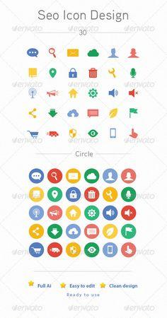 Seo Icon Design - Web Icons