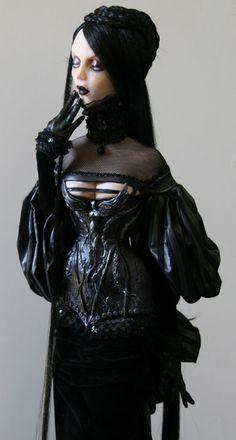 Carmilla OOAK Art Doll Sculpture by artist Virginie Ropars