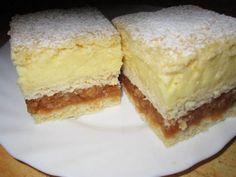 Ingrediente pentru aluat: 500g făină, 250g margarină, un varf de cutit sare, 2 linguri zahăr, un plic praf de copt (10 g), 150ml apă căldută Ingrediente pentru crema de vanilie: Două plicuri budincă de vanilie, 500ml lapte, 7 linguri de zahăr Ingrediente pentru umplutura cu mere: un kilogram de mere, 2 linguri de gris, suc …