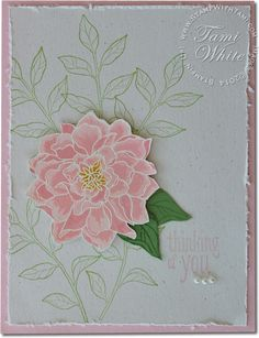 CARD Peaceful Petals Easter / Sympathy | Stampin Up Demonstrator - Tami White - Stamp With Tami Stampin Up blog