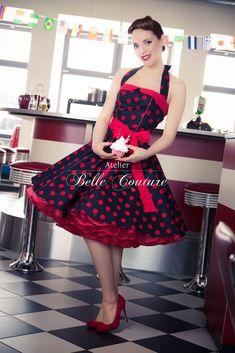 Jahre Rockabilly Petticoat Kleid - Jahre Rockabilly Petticoat Kleid Source by - Vintage Fashion 1950s, Mode Vintage, Retro Fashion, Steampunk Fashion, Gothic Fashion, Style Rockabilly, Rockabilly Fashion, Long Dress Fashion, Fashion Dresses