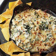 Spinach-and-Artichoke Dip | This has been a staff favorite ever since we first tried it 13 years ago. It's rich, savory, and supercreamy, with a nice hit of garlic.