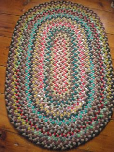 hand braided or rag rugs   Vintage Oval Hand Braided Rag Rug by VintageYoung on Etsy