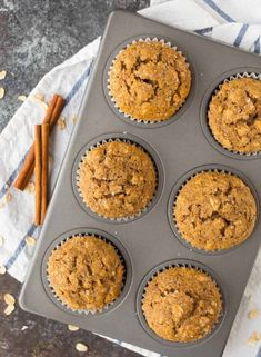 Applesauce Muffins (via Well Plated)