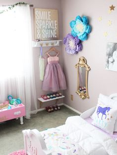 A Dress-up Corner for a Shared Big Girl Room for Sisters is a must-have am I Bi. A Dress-up Corner for a Shared Big Girl Room for Sisters is a must-have am I Big Girl Rooms big co Dress Up Corner, Dress Up Area, Big Girl Bedrooms, Little Girl Rooms, Girls Princess Bedroom, Little Girls Room Decorating Ideas Toddler, Bedroom Girls, Diy Bedroom, Girl Bedroom Paint