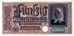 Χαρτονόμισμα των 50 μάρκων, άνευ αντικρύσματος, που οι γερμανοί είχαν θέσει σε κυκλοφορία στην Ελλάδα κατά την περίοδο της Κατοχής