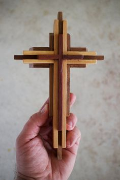 Wooden Cross – Cardinalwood, Cypress and Walnut