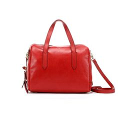Maple and West Fossil Sydney Satchel - Real Red