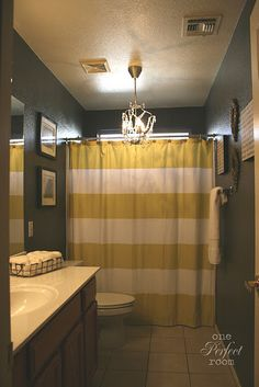 I want a chandelier in the bathroom!