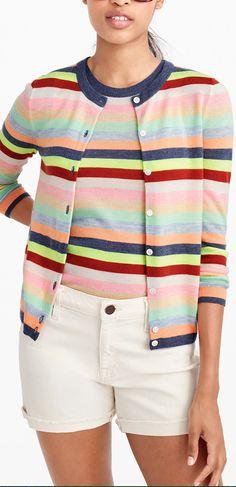 candy stripe cardigan