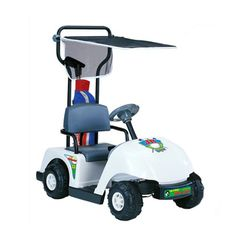 Kid Motorz Jr. Pro 6-volt White Golf Cart - Overstock™ Shopping - The Best Prices on Kid Motorz Powered Riding Toys