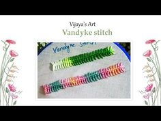 Hand Embroidery Stitch - Border knotted dimond stitch - YouTube