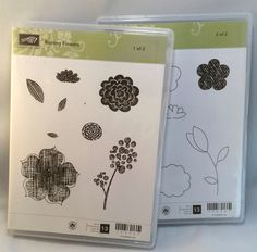 Raining Flowers by Stampin Up by catscardsandcoffee on Etsy