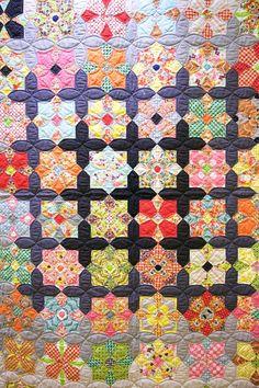 Sue Daley's Quatro Color Quilt displayed at Spring Quilt Market 2016 in Salt…