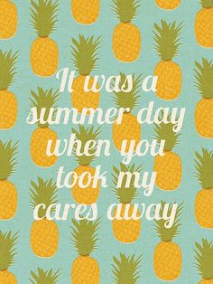 It Was A Summer Day When You Took My Cares Away Tropical Art Print by peachlings