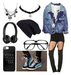 """Untitled #1558"" by laurenwolfchild ❤ liked on Polyvore featuring ZeroUV, Halogen, Beats by Dr. Dre and Betsey Johnson"