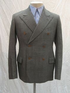 Stunning 1930's Prince of Wales Check Double Breasted 3 Piece Suit | eBay