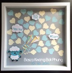 Baby Shower Guest Book Alternative   Welcome Baby   1st Birthday   Baby  Sheep   Kite Balloon Guestbook   40 Balloons