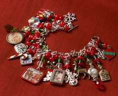 Jewelry Making – Holiday Glitz Christmas Charm Bracelet Holiday Glitz Jewelry crafting components and charms – pretty Christmas Jewelry from plaidcrafts to DIY this year!