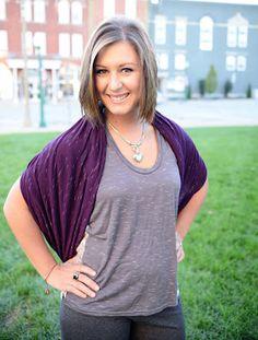 Infinity Scarf - Merlot worn as a shawl by Art & Soul Boutique  www.ArtandSoulBoutique.com