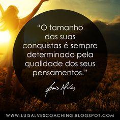 PENSAMENTO DO DIA  Você tem pensamentos de qualidade?  Conheça o meu canal no YouTube: https://www.youtube.com/c/luisalvescoaching  #PensamentoDoDia #FraseDoDia #LuisAlvesFrases #Sonhos #Conquistas #Pensamentos #LeiDaAtração #Sucesso #Abundância #Prosperidade #LivroSemLimites #Riqueza #Coaching