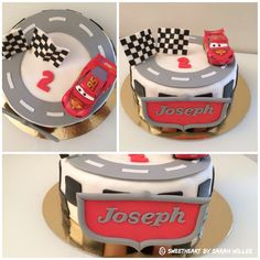 Flash McQueen cake 3rd Birthday Cakes, Sons Birthday, Gateau Flash Mcqueen, 49ers Cake, Car Cakes For Boys, Lightning Mcqueen Cake, Cake Youtube, Cakes And More, Cake Decorating