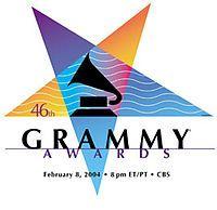 46th Grammy logo: inverted pentagram / sign of Baphomet
