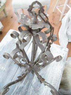 Vintage ornate chandelier  shabby chic by Vintagewhitecottage, $84.00