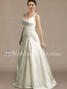 Informal Plus Size Wedding Dress with Tank Straps PS081 http://www.inweddingdress.com/style-ps081.html
