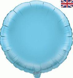 18 Inch Light Blue Round Foil Helium Balloon