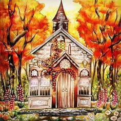 Burning colours by @Regrann from @shirley_tutopia - Autumn church #romanticcountry #romanticcountrycoloringbook #romanticcountry2 #coloringbook #coloring #coloriage #colouringforadults #prismacolor #coloredpencils #adultcoloring #shirleytutopia #colouring #colouringbook #coloringtutorial #coloringbookforadults #coloringforadults #rainbowdoodlers #regrann #ilovecoloring #coloringobsessed - more @ RainbowDoodlers.com