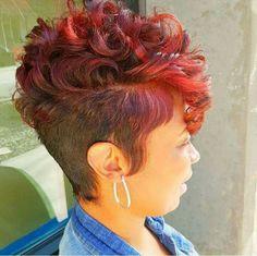 Short Sassy Hair, Short Hair Cuts, Pixie Cuts, Love Hair, Gorgeous Hair, Amazing Hair, Curly Hair Styles, Natural Hair Styles, Hairstyles Haircuts