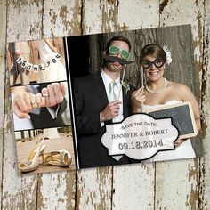 cheap funny photo wedding save the date cards EWSTD048 as low as $0.60