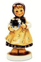 Hummel Heartfelt Gift  Swarovski Crystal Heart Hummel Figurine 856 Sold Out..wow never knew they worked together..would love this one!!!