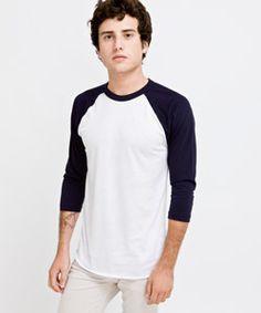 American Apparel Poly-Cotton 3/4 Sleeve Raglan Shirt....Plz Get me This @Ana Trujillo or @Nichole Gomez
