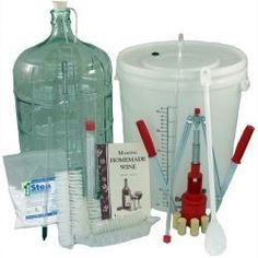 It is easy to make you own homemade wine with this basic equipment kit!  http://howtomakehomemadewine.biz