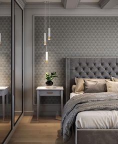 Awesome Luxury Bedroom Design Ideas You Must Have - A number of interior designers have had successes from previous designs that capture the plain white room into something that can distract an owner de. Luxury Bedroom Design, Master Bedroom Design, Interior Design, Bedroom Designs, Gray Interior, Master Suite, Simple Bedroom Design, Modern Master Bedroom, Interior Livingroom